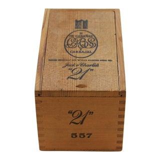 "Jack & Charlie's ""21"" Club Cigar Box"