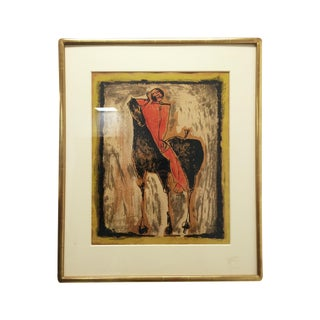 "Vintage Print of Marino Marini's ""Red Rider"""