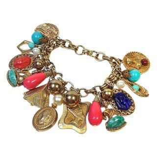 Goldtone Traveler's Charm Bracelet