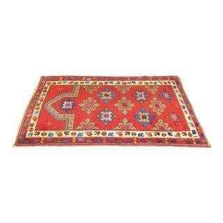 Antique Turkish Kozak Prayer Rug - 3′6″ × 5′