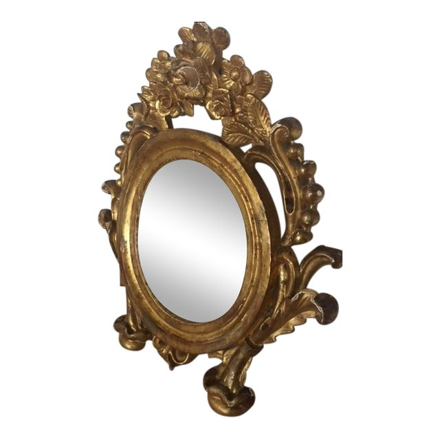 Antique Carved Gold Mirror - Image 1 of 9