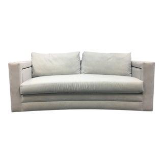 New Rene Carazes Alexis Convex Microfiber Sofa