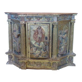 18th C. Carved Hanging Cabinet