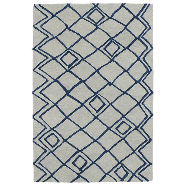 """Hand-Tufted Utopia Lucca Ivory Wool Rug - 9'6"""" x 13'6"""" - Image 1 of 3"""