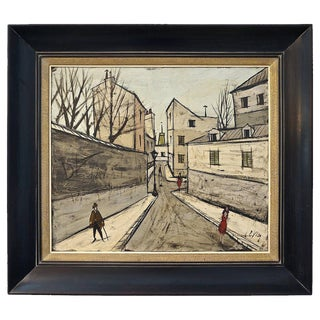 Mid-Century Modern Oil Painting by the Iconic French Artist Charles Levier
