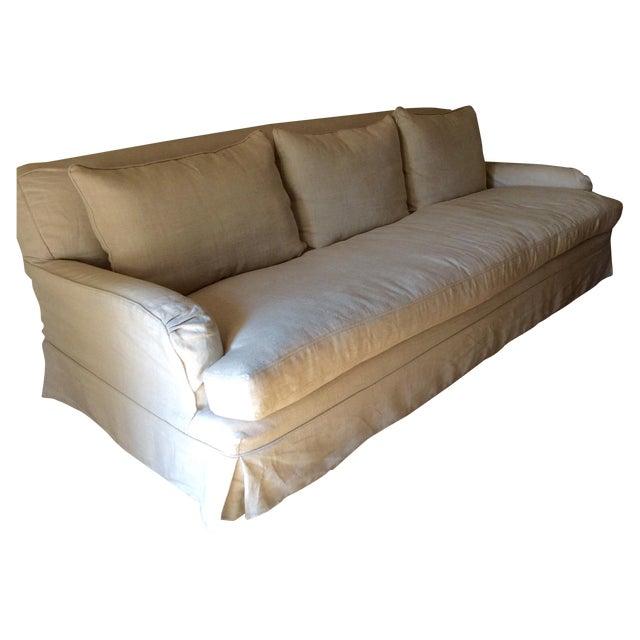 RH Belgian Linen Roll Arm Slipcovered Sofa - Image 1 of 3