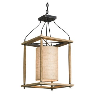 Farmhouse Lantern in Wood & Iron