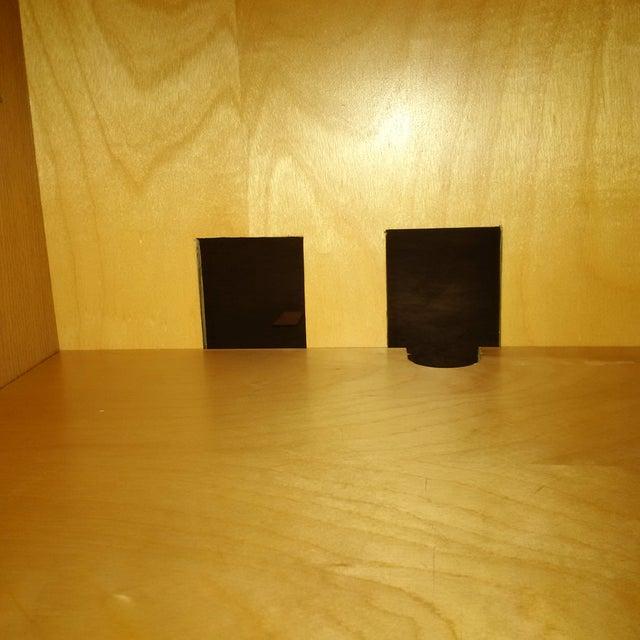Modern Custom Oak Finish Buffet - Image 4 of 7