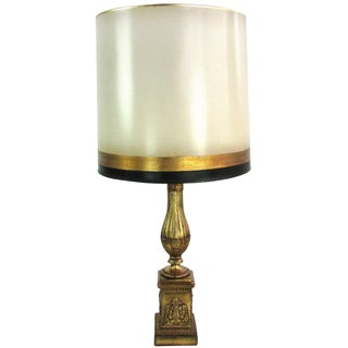 Gilt Plaster Borghese Lamp & Shade