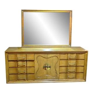 Mid-Century Mirror Vanity Bureau Cabinet Standard Dresser