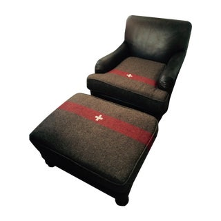 Swiss Army Chair and Ottoman Set