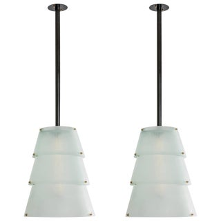 French Modernist Lucite Lanterns- A Pair