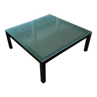 Room & Board Modern Glass & Steel Coffee Table
