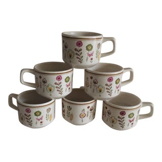 Vintage Floral Mugs - Set of 6