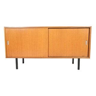Robin Day Teak Sliding Door Credenza