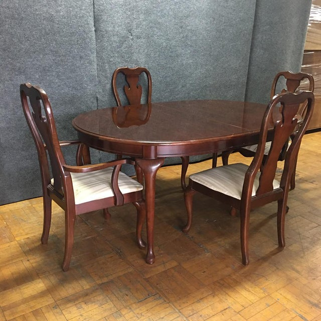 Traditional Thomasville Oval Dining Table Set Chairish