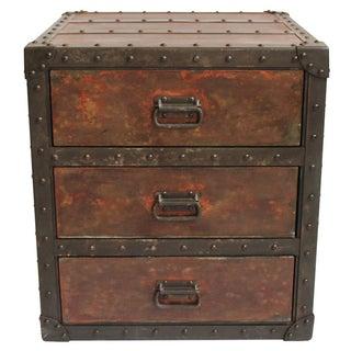 Rivet Metal Side Cabinet Nightstand