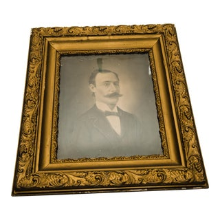 19th Century Framed Charcoal Portrait of a Man