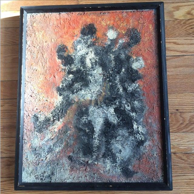 Image of Abstract Mid-Century Modern Painting Original Art