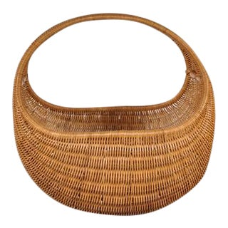 Wicker Baby Basket by Dirk van Sliedrecht for Rohé Netherlands, circa 1950