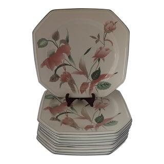 Mikasa Continental Silk Flowers Dinner Plates - Set of 9