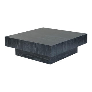 Modern Cerused Square Coffee Table