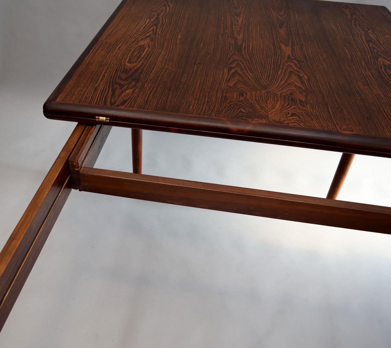 Kurt Østervig Expanding Dining Table In Brazilian Rosewood   Image 11 Of 11