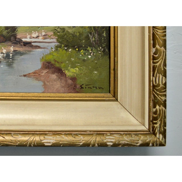 1950's Framed Canvas Triptych - Image 6 of 8