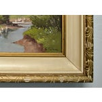 Image of 1950's Framed Canvas Triptych