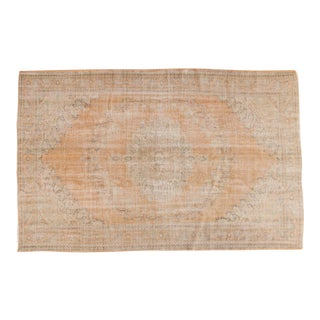 "Vintage Distressed Oushak Carpet - 6'4"" x 9'11"""