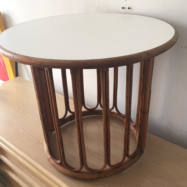 1960's Calif-Asian Rattan Side Table - Image 7 of 7