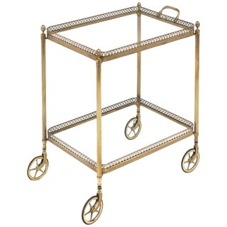 Vintage Maison Baguès Style French Bar Cart