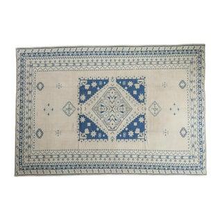 """Distressed Geometric Oushak Carpet - 6'9"""" X 9'10"""""""