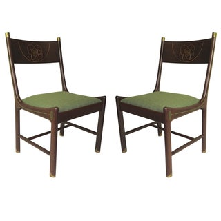 Rare Pair of 1970 Ib Kofod-Larsen for Selig Chairs