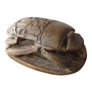 Carved Stone Egyptian Scarab Beetle