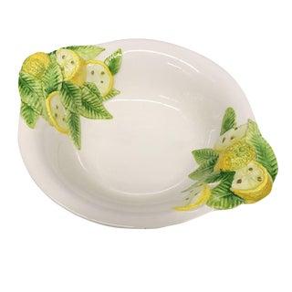 Vintage Italian Bassano Ceramic Lemon Motif Bowl