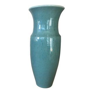 Mid-Century Signed Speckled Glaze Pottery Vase