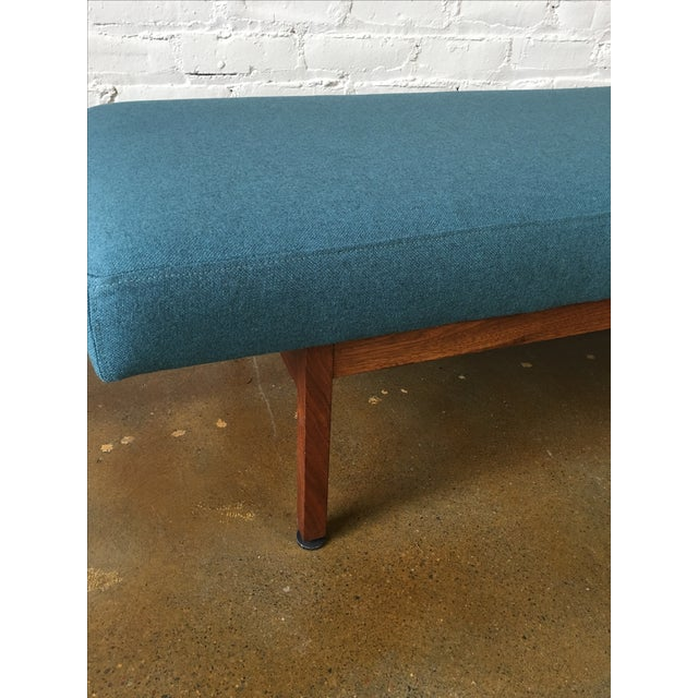 Danish Modern Walnut Upholstered Bench - Image 3 of 6