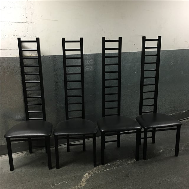 Image of Lee Industries Ladder Back Chairs - Set of 4