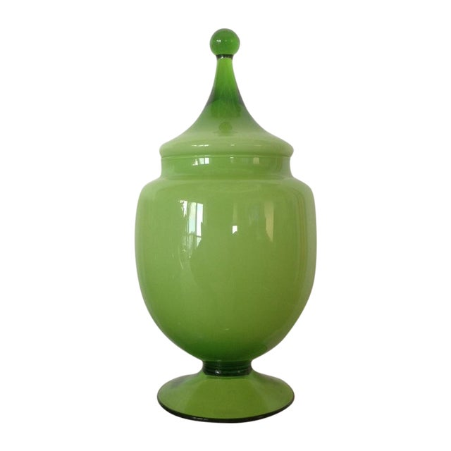 Chartreuse Oval Bonbonniere - Image 1 of 3