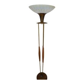 Gerald Thurston Mid Century Walnut Floor Lamp