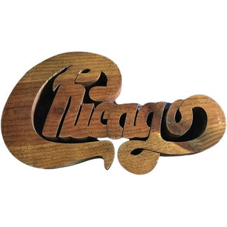 Vintage Chicago Hand Carved Wall Art