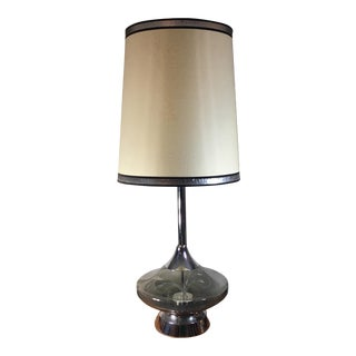 Vintage Large Scale Smoked Glass & Fiber Optic Lamp