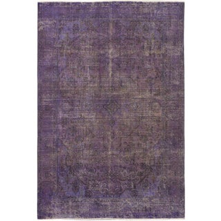 "Vintage Turkish Overdyed Rug - 6'5"" x 9'6"""