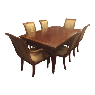 Ethan Allen Goodwin Dining Table & Adison Side Chairs - Set of 7