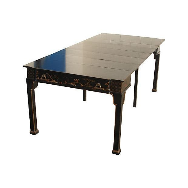 Image of Convertible Chinoiserie Desk And Dining Table