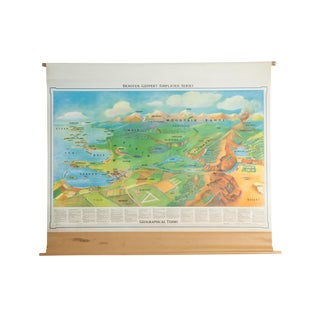 Vintage Denoyer-Geppert Landforms Pull Down Map