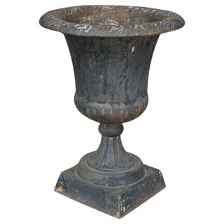 19th Century French Iron Garden Urn