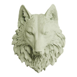 Wall Charmers Wolf in Sage Green