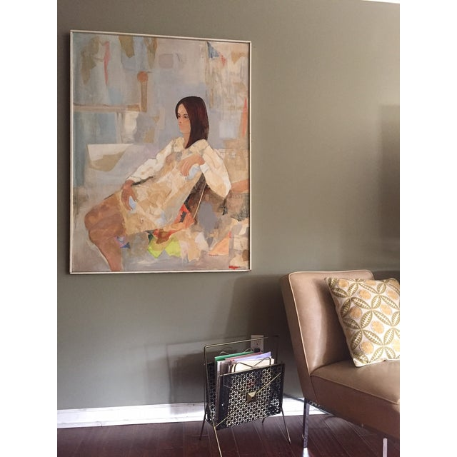 Mod Abstract Portrait Painting - Image 3 of 7